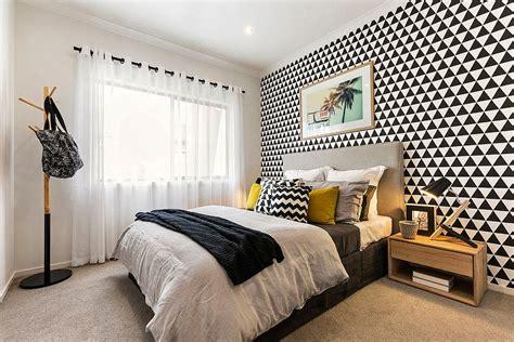 geometric pattern headboard bedroom with geometric pattern for the headboard wall