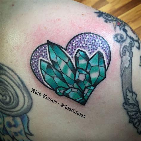 crystal tattoo designs blue hear best ideas gallery