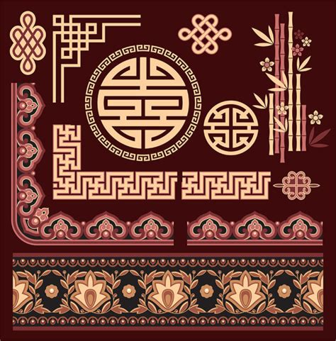 chinese design elements vector chinese style floral decorative elements 02 vector