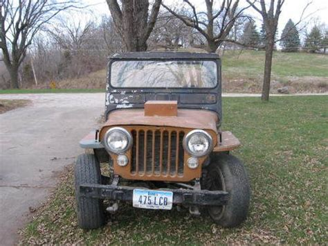 Used Jeeps For Sale In Iowa Purchase Used 1947 Willys Jeep Cj2a In Fort Dodge Iowa