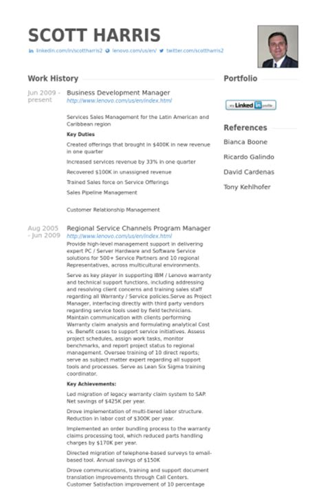 Vendor Development Manager Resume by Business Development Manager Resume Sles Visualcv