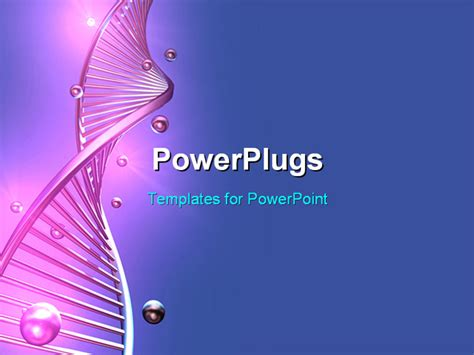 dna powerpoint templates free powerpoint template a purple colored single dna
