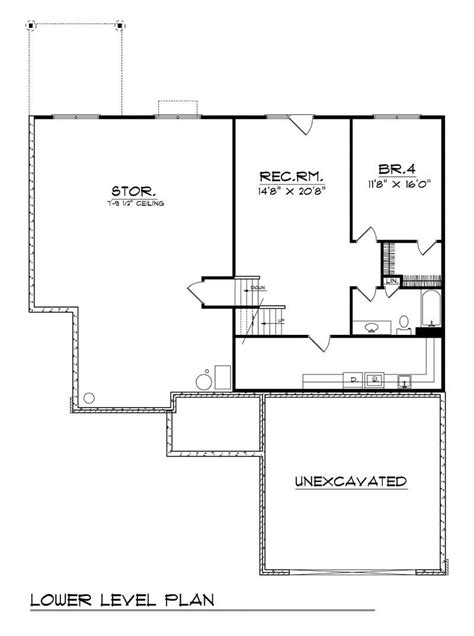floor plan for a 940 sq ft ranch style home ranch home with 4 bdrms 2838 sq ft house plan 101 1524