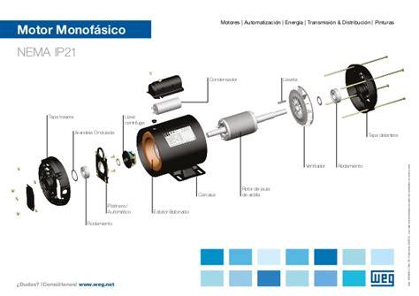 capacitor y sus partes weg motor monofasico vista explodida 50036054 guia rapido espanol
