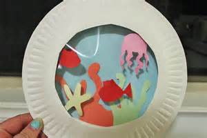 Crafts Using Paper Plates - paper plate aquarium my kid craft