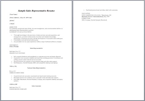 Sales Rep Responsibilities Resume by Resume Sales Representative Description Sle