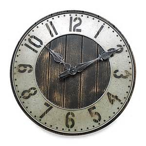 wall clocks canada home decor rustic punched metal wall clock bed bath beyond