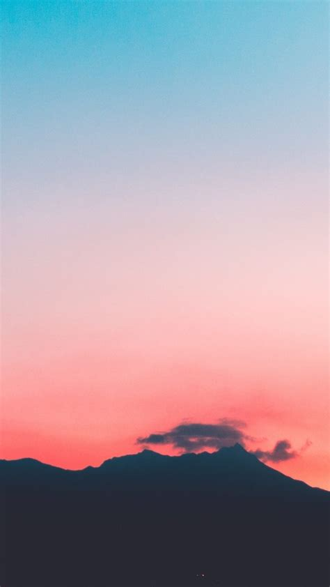 mountains sunset sky wallpaper