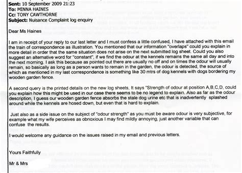 Complaint Letter To Council About Barking The Odour Northwest And Barking Mad