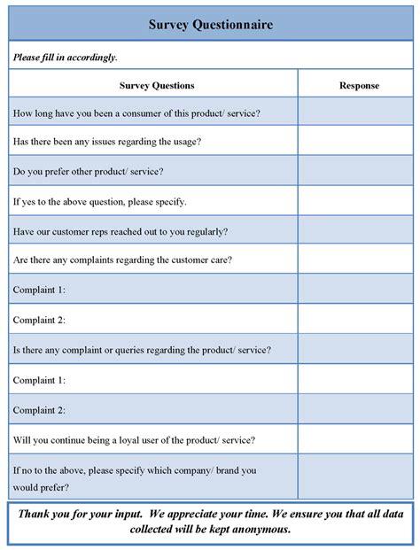 survey template microsoft word survey questionnaire template sle templates