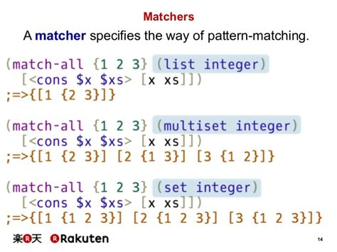 language with pattern matching matching pattern