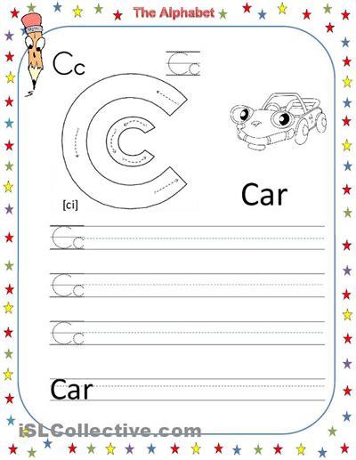 free printable preschool worksheets letter c 6 best images of free printable alphabet letter c