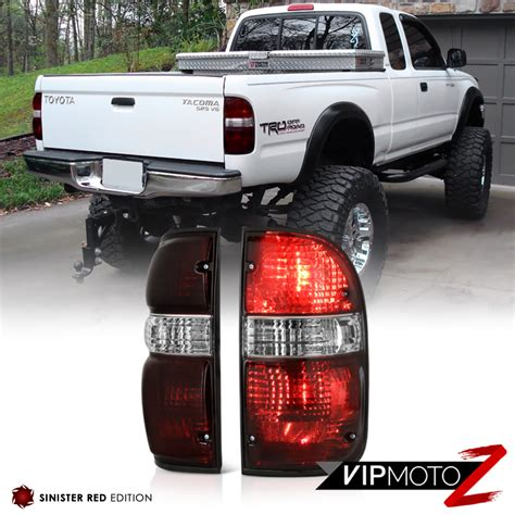 2001 toyota tacoma led tail lights toyota tacoma 2001 2004 4x4 smoke tinted oe style tail