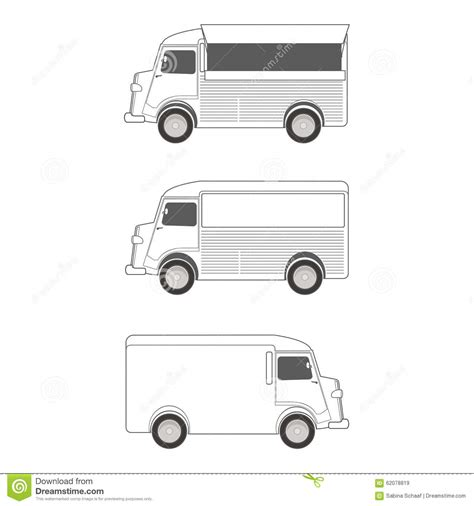 Food Truck Template Stock Vector Illustration Of Service 62078819 Blank Food Truck Template