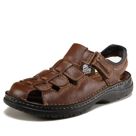 are sandals business casual brand designer summer outdoor genuine leather casual