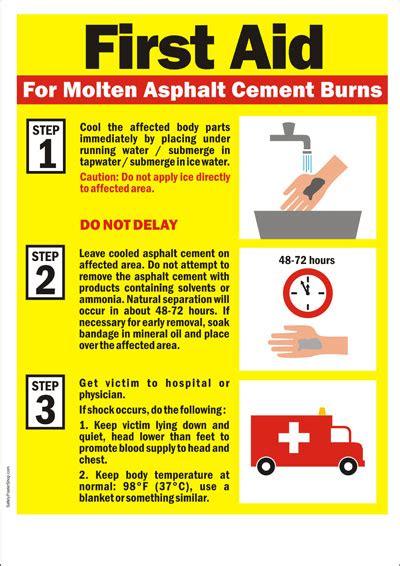 high voltage course singapore safety poster aid for asphalt burn safety poster
