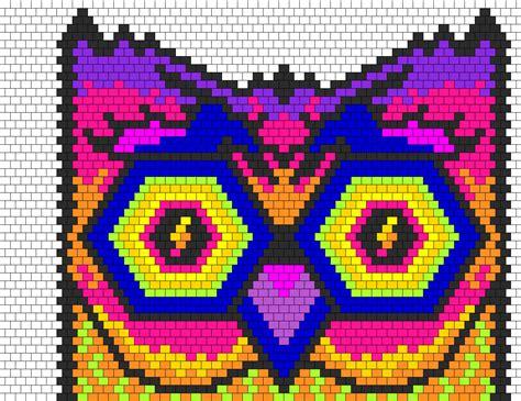 owl pony bead pattern edc owl bead pattern peyote bead patterns animals bead