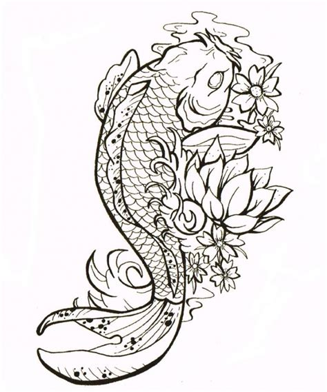 koi fish tattoo drawings famous koi fish tattoo design