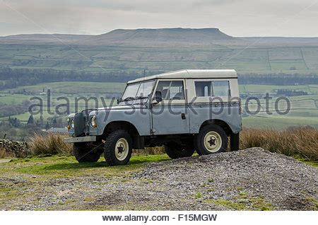 rugged road vehicles iconic classic rugged grey series iia land rover 4x4 road stock photo royalty free