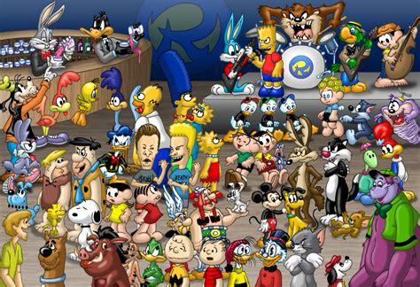 party themes cartoon characters cartoons party by rogferraz on deviantart