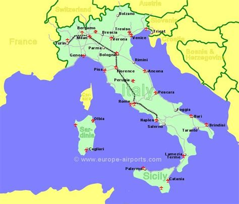 map airports airports in sicily italy map
