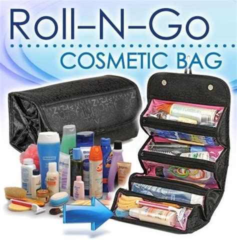 Roll N Go Tempat Tas Dompet Wadah Kosmetik Cosmetic Organizer Hitam jual roll n go cosmetic bag tas kosmetik unik murah barang unik kado ulang tahun unik