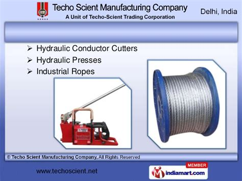 techo scient manufacturing company hydraulic equipment by techo scient manufacturing company