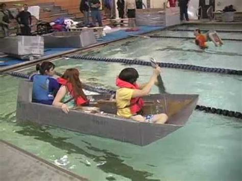 cardboard boat fails angleton cardboard boat race youtube