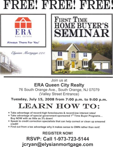 time home buyer s seminar