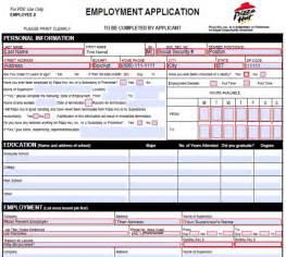 pizza hut job application form printable job application