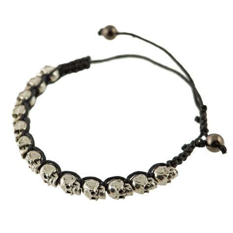 Skull Bracelet brushed skull bracelet