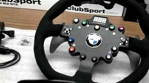 volanti fanatec fanatec clubsport wheel pedals m3 gt2 f1 wheel hd