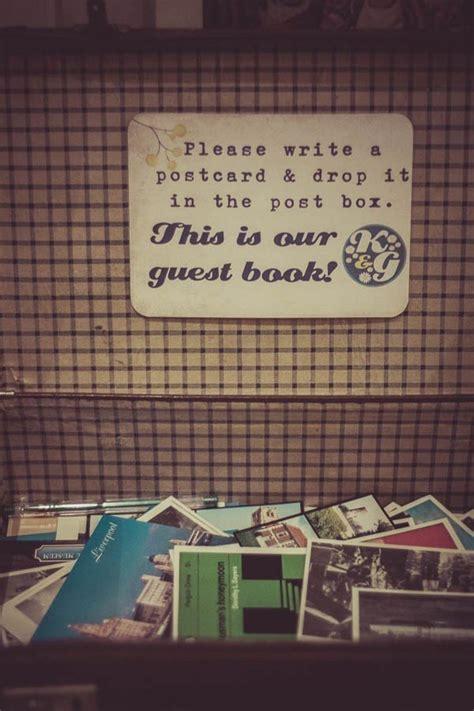 postcard wording ideas for wedding guest book 15 creative wedding guest book ideas mywedding