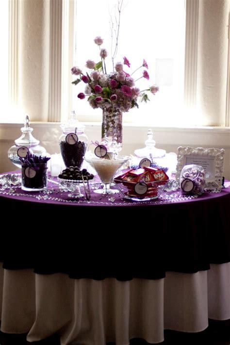 Passionate Purple Candy Buffet Photos And Ideas Sweet Purple Wedding Buffet
