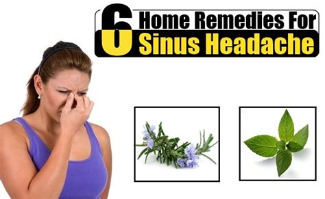 5 home remedies for sinus headache treatments