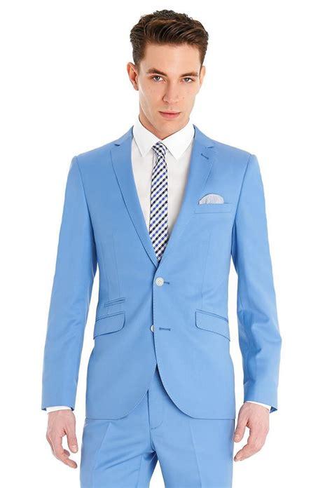 light blue suit wedding retro gentlemen british style blue light blue sky red