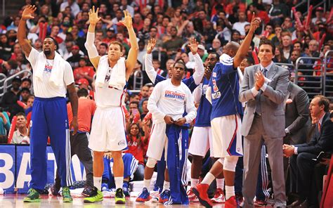 clippers bench clippers bench celebrates nbaimages