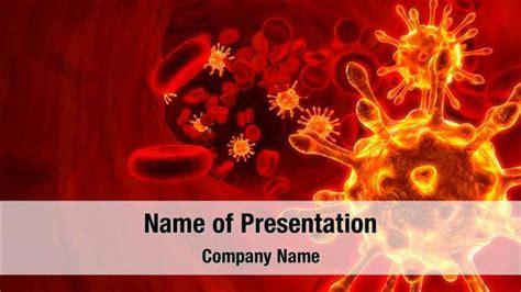 powerpoint design red blood cells virus in blood powerpoint templates virus in blood