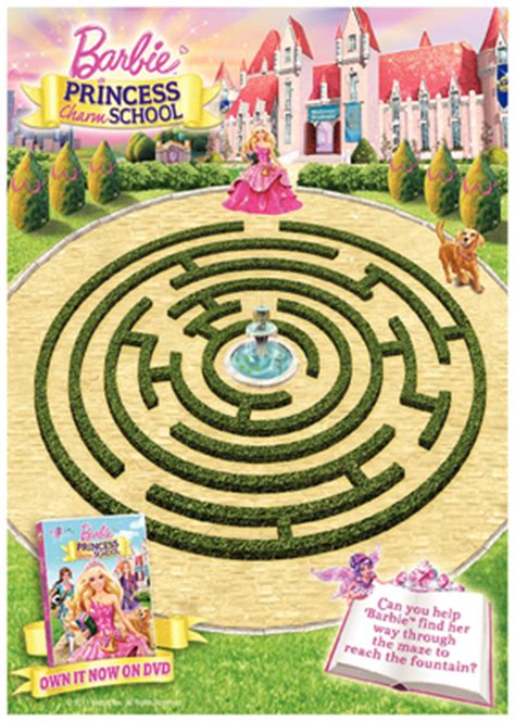 printable barbie maze mellow mummy august 2011 taking life as it comes