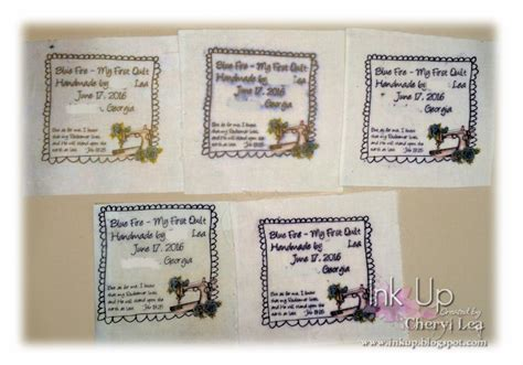 Printing Quilt Labels On Fabric by Ink Up A S Day Card And A Fabric Printing Tip