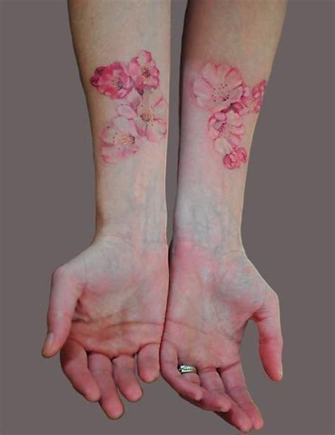 cherry blossom tattoo on hands design of tattoosdesign