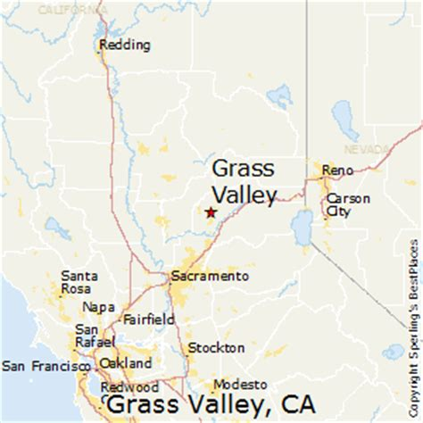 california map grass valley best places to live in grass valley california