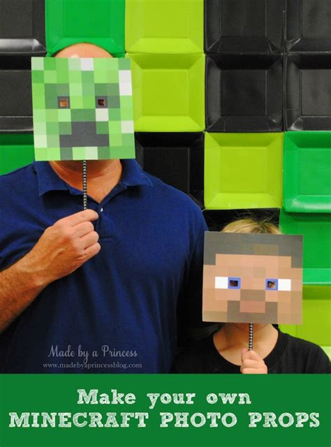 printable minecraft photo booth props diy photo booth props the ultimate list