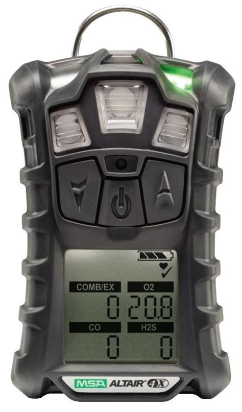 msa altair 4x multi gas detector lel o2 co h2s no2 so2 gas detection accurate hse safety