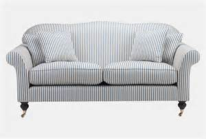 Striped Fabric Armchairs Create A Country Chic Look Wesley Barrell
