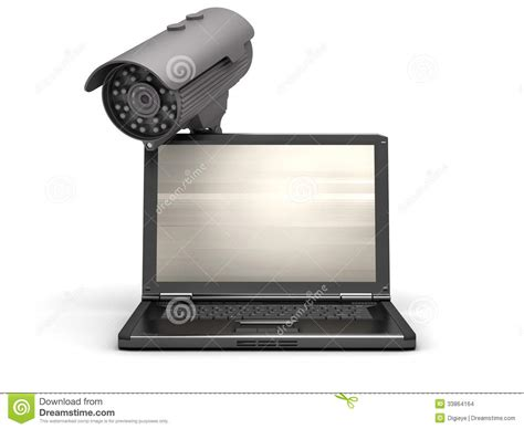 Cctv Laptop laptop and security stock illustration illustration of record 33864164