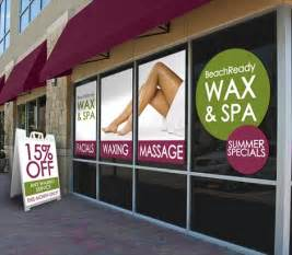 waxing salon signs hair removal treatment signs