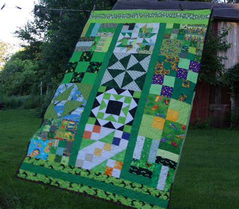 Bits And Pieces Quilt Guild by Sane Crumby Quilting Green Leftovers Lottos