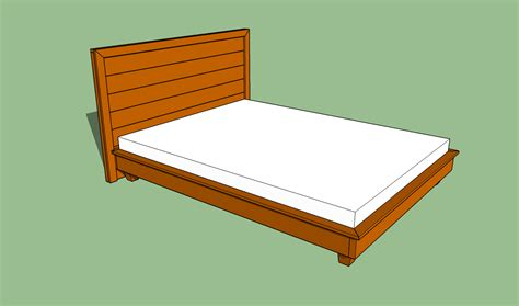 How To Make Platform Bed Frame Diy How To Build A Platform Bed Frame Plans Free