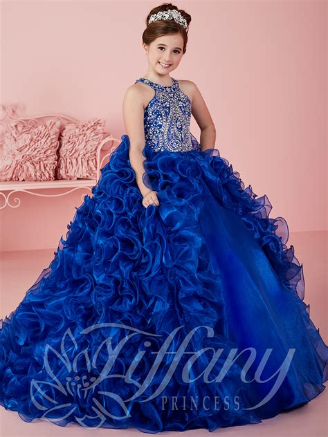 Dress Princes princess 13463 halter beaded gown pageant